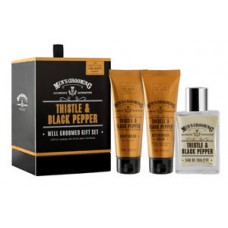 Men's Grooming Thistle&Black Pepper Well Groomed Gift Set - set ingrijire