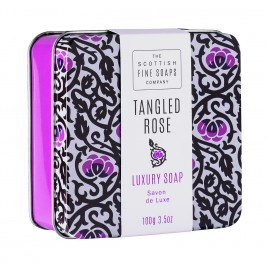 Sapun in cutie metalica 100 g Tangled Rose